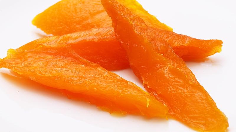 乾燥後でも色のきれいなマンゴー