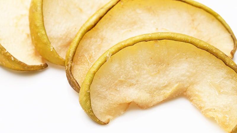 乾燥後でも色のきれいな梨