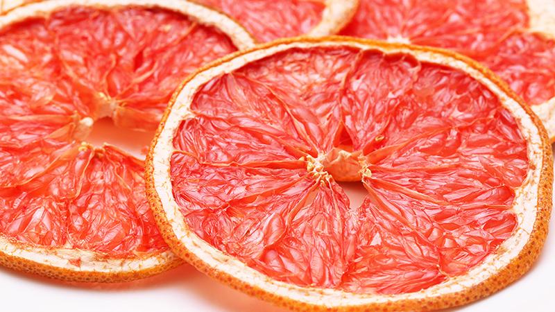 グレープフルーツの乾燥例