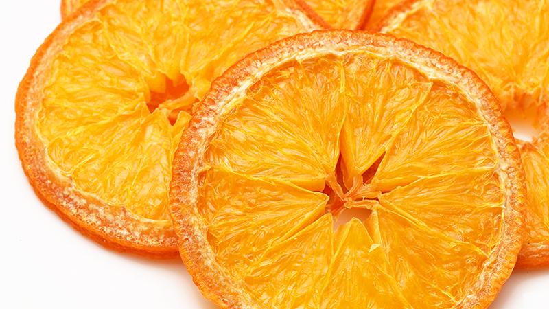 オレンジの乾燥例