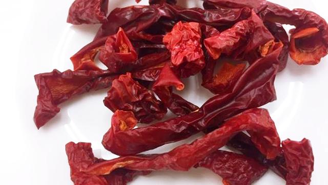 赤パプリカの乾燥例